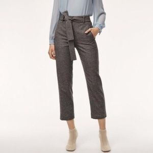 Wilfred Aritzia Jallade High Rise Grey Tweed Pants